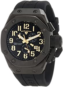 Swiss Legend Men's 10541-BB-01-GA Trimix Diver Chronograph Black Dial Watch