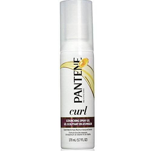 Pantene Pro VÂ Curly Hair Style Curl Enhancing Spray Hair Gel 5.7 Fl Oz