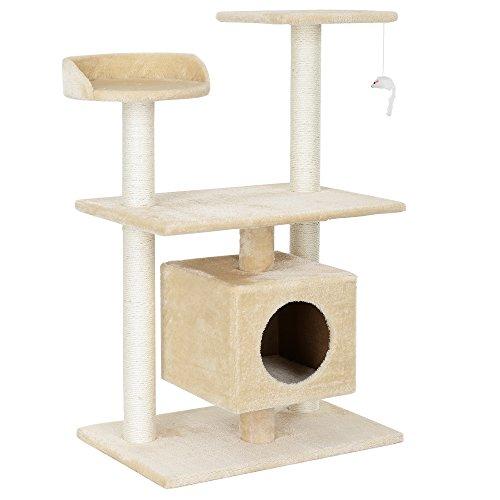 encasa-Katzen-Kratzbaum-ca-60-x-40-x-95-cmcreme-Kuschelhhlen-Aussichtsplatformen-Sisal-mit-vielen-Spiel-und-Kuschelmglichkeiten