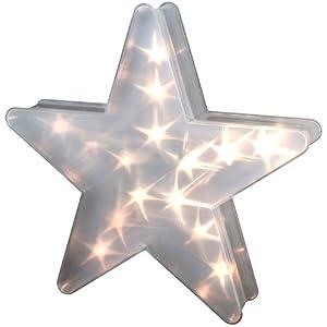 beleuchteter stern 15 led mit holografie folie leuchtstern. Black Bedroom Furniture Sets. Home Design Ideas