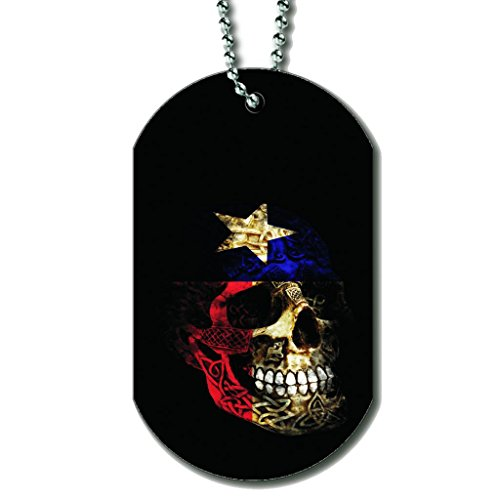 Texas Skull Flag - Dog Tag Necklace футболка классическая printio gta 5 dog