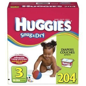 Huggies Snug & Dry Diapers Step 3 - 204 ct.