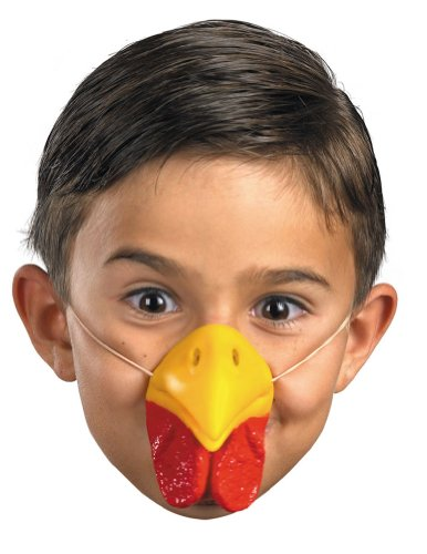 Scary-Masks Nose Chicken W Elastic Mask Halloween Costume - Most Adults