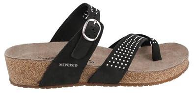 Women's Mephisto, Izonia Sparkling Thong Sandal BLACK 6 M