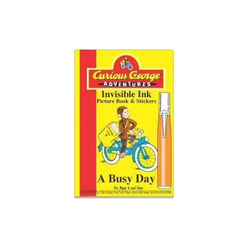 Curious George Invisible Ink Book A Busy