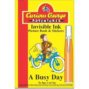 Curious George Invisible Ink book - A Busy Day - 1
