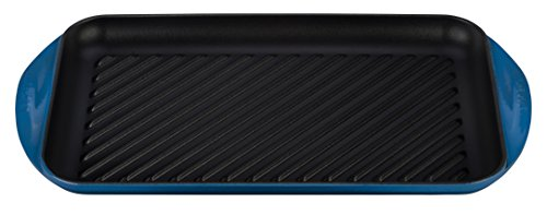 Le Creuset of America Enameled Cast Iron Double Burner Grill, 15 3/4