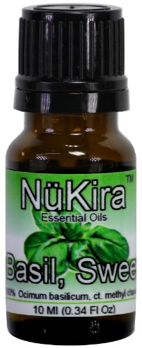 NuKira Basil Sweet Pure Essential Oil, 0.34 Ounce