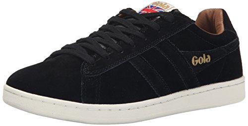 Gola Women's Cla495 Equipe Suede Fashion Sneaker, Black, 8 M US