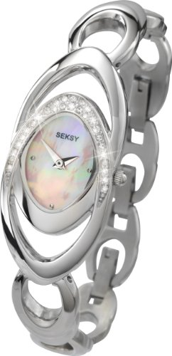 Seksy Wristwear by Sekonda Ladies 4281.39 Stone Set Watch with Mother of Pearl Dial