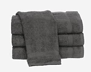 "Towels by Doctor Joe Ambassador Charcoal Gray 16"" x 28"" Lint-Free Car Wash and Detailing Towel, Pack of 12"