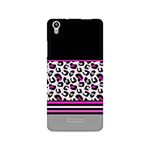 Mobicture Pink Cheetah Fusion Printed Phone Case for Lava Pixel V1