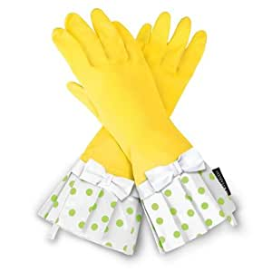 Grandway Honduras Gloveables Yellow/Lime Dot with White Bow
