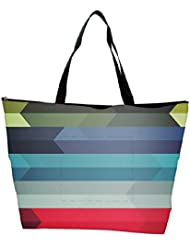 Snoogg Abstract Colorful Strips Designer Waterproof Bag Made Of High Strength Nylon