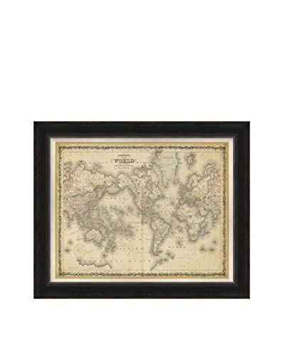 Surya Framed World Map Wall Décor, Multi, 28 x 34