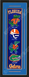 Heritage Banner Of Florida Gators With Team Color Double Matting-Framed Awesome &... by Art and More, Davenport, IA