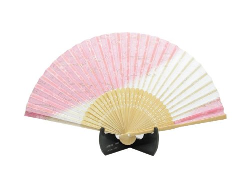 No.504-712 Fast Arrow luxury silk folding fan Shirosakura...
