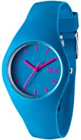 Ice-Watch Unisex Quartz Watch with Turquoise Dial Analogue Display and Turquoise Silicone Strap ICE.SB.U.S.12