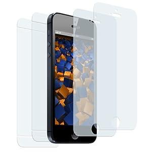 2+2 x mumbi Displayschutzfolie iPhone 5S 5 Schutzfolie Folie (2 x VORNE und 2 x RÜCK Folie)