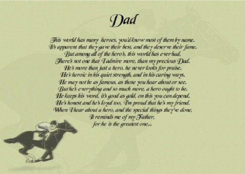 Dad The world Has Many Heroes Personalised Poem Gift Print