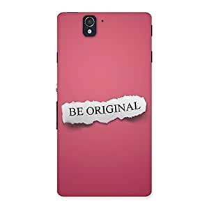 Be Orignal Multicolor Back Case Cover for Sony Xperia Z