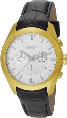 Joop  Aspire Swiss Made - Reloj de cuarzo unisex, con correa de cuero, color negro