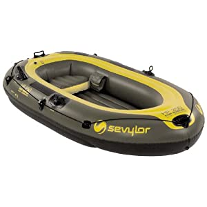 Sevylor fish hunter inflatable 3 person boat for 3 person fishing boat