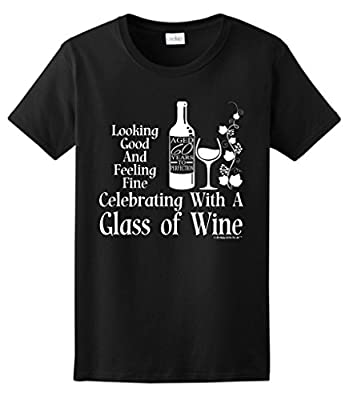 60th Birthday Gifts for All Celebrating Glass Wine Ladies T-Shirt