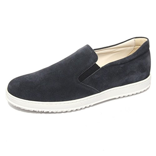 B0653 sneaker uomo HOGAN mocassino scarpe blu shoes men [7.5]