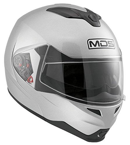 MDS Casco Moto Md200 E2205 Solid, Silver, L
