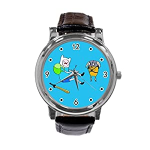 Adventure Time Jake and Finn54-Adventure Time Jake and Finn Unique Diy Custom Photo Design Round Wrist Women Watch -S83