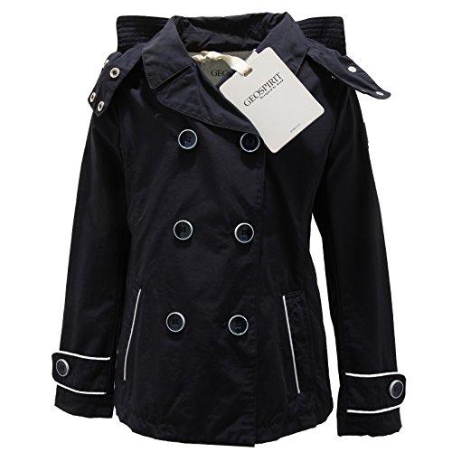 1445N trench GEOSPIRIT giubbotto giacche bimba jackets kids nero [S]