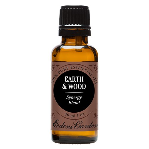 Earth & Wood Synergy Blend Essential Oil by Edens Garden (Cardamom, Cedarleaf, Cedarwood, Fir Needle, Patchouli and Sandalwood)- 30 ml