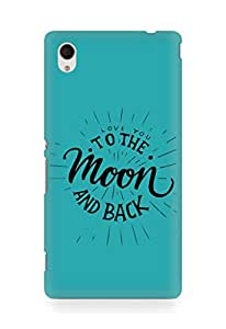 AMEZ love you to the moon and back Back Cover For Sony Xperia M4