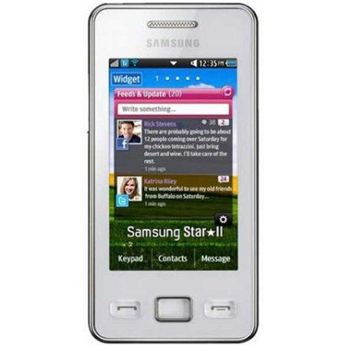 Samsung SA-S5260WESP Cellphone, Unlocked Phone, No Warranty (White)