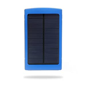 Andoer Portable 10000mAh External Solar Charger Mobile Power Universal for iPhone 5S, 5C, 5, 4S/iPad Air, 5, 4, 3, 2, iPad Mini 2/Samsung Galaxy S4, S3, Note 2, Note 3/ Nokia/Smartphones (blue)