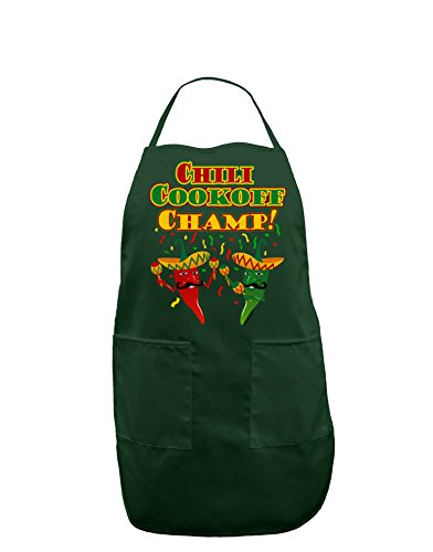 TooLoud Chili Cookoff Champ! Chile Peppers Dark Adult Apron - Hunter - One-Size (Chili Cook Off Aprons compare prices)