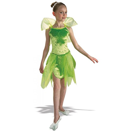 GSG Tinker Bell Kids Costume Tinkerbell Pixie Fairy Peter Pan Halloween Dress (Tinkerbell And Peter Pan Costumes For Adults)
