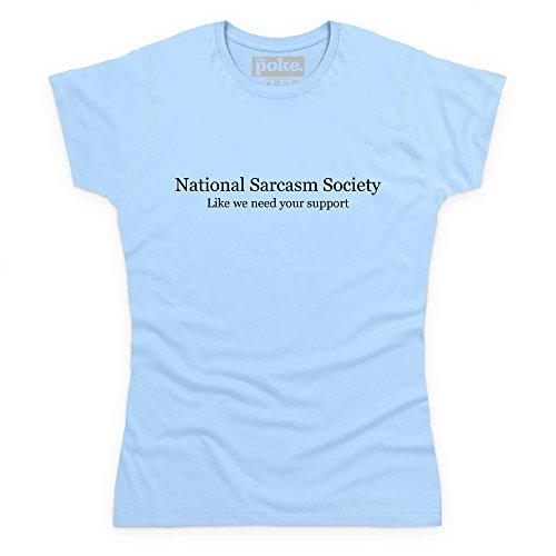 National Sarcasm Society T-shirt, Donna, Celeste, 2XL
