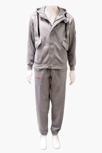 Infants Boys Location Grey Full Fleece Tracksuit Pant Hoodie Hoody Kids