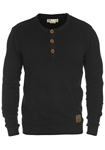 solid-terrance-mens-knitted-pullover-sizemcolourblack-9000
