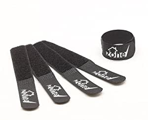 Tech Zone - Chunky Large Hook and Loop Fastener Cable Ties - Extra Value 20 Pack - Black