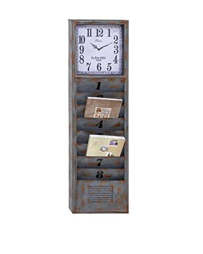 Deco 79 Metal Wall Clock with Organization, Grey