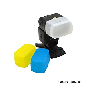 MaximalPower Diffuseur de flash pour Canon 430EX/430EXII Blanc/noir/jaune