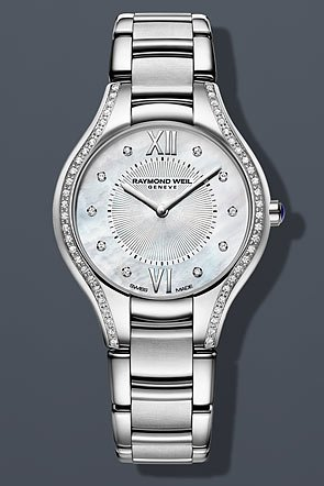 Raymond Weil Noemia Mother of Pearl Dial Stainless Steel Diamond Ladies Watch 5132-STS-00985