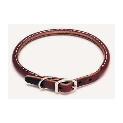 Coastal Pet Products DCP220314 Leather Latigo Round Dog Collar, 3/8 by 14-Inch