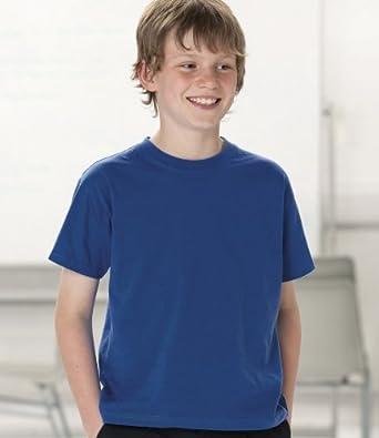 Jerzees Schoolgear Kids Lightweight T-Shirt SIZE 1 to 2 COLOUR Black