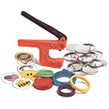 """Badge-A-Minit 1007 2 1/4"""" Badge-A-Minit Button Machine Starter Kit with button parts and designs"""