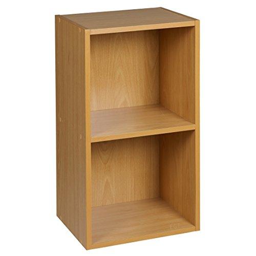 URBN-Living-1-2-3-4-Etagen-Holzregal-Bcherregal-Aufbewahrung-Holz-Regal-Eiche-antik-2-Etagen