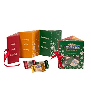 Ghirardelli Holiday Trio Triangle Gift Box with Window